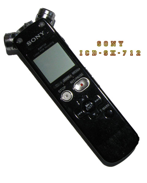 Sony Recording Device Audio Recording Devices Part