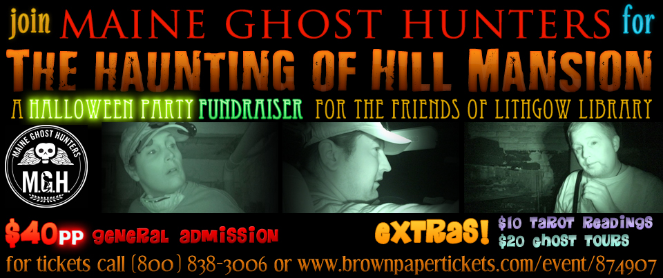 The Haunting of Hill Mansion Halloween Party Banner